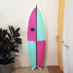 Electric Twin Fin Surfboard by Cooper Surfboards UK