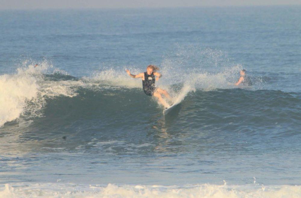 Ollie Cooper Surfing at Medewi, Bali